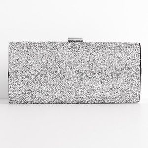 💕 NEW Windsor Purse Crossbody Clutch Bag Silver